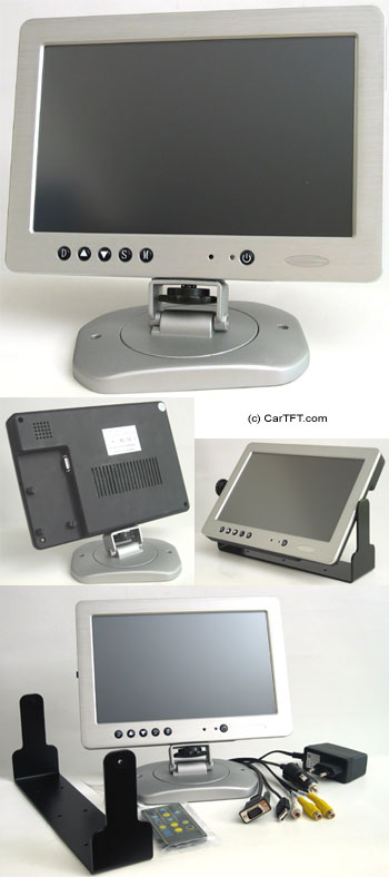 "1020TSV -- TFT 10.2"" -- VGA and PAL/NTSC -- with Touchscreen <b>USB</b>"