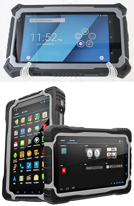 "CTFPND-8C (7"" Android TabletPC/PND, Waterproof IP67, Ruggedized, 1.5Ghz Quad CPU/3GB RAM, GPS/WLAN/BT/3G/4G, Android 7)"